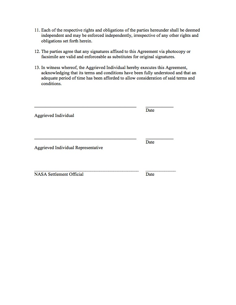 NPR 37132 AppendixC – Settlement Agreement Template